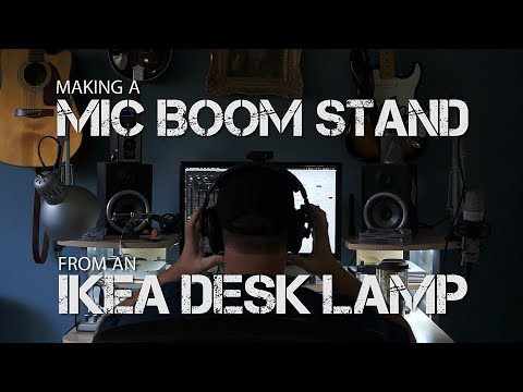 How to make a Microphone Desk Boom Stand from an Ikea Desk Lamp