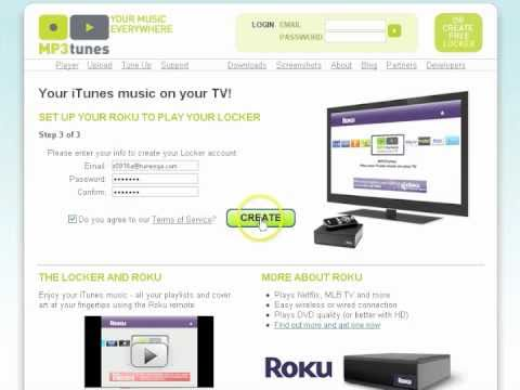 Activating MP3tunes on your Roku Player