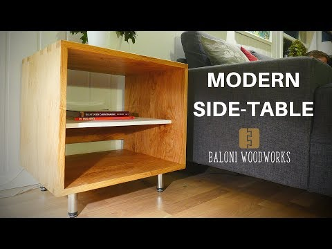 Making a Modern SIDE-TABLE with Box Joints! // Baloni Woodworks