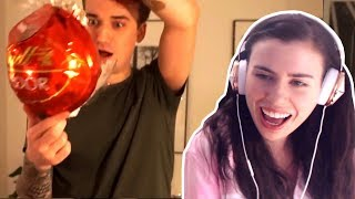REACTING TO CRAINER OPENING OUR SURPRISE GIFTS!!!