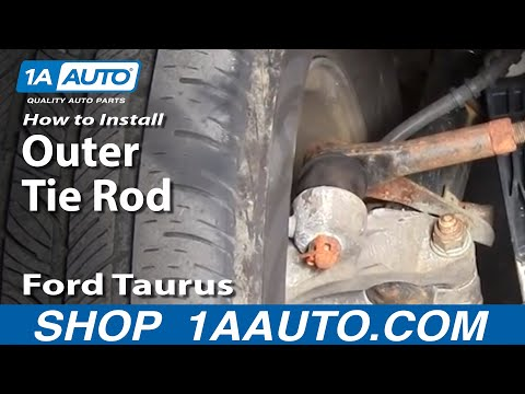 How To Install Replace Steering Outer Tie Rod End Ford Taurus Mercury Sable 96-06 1AAuto.com