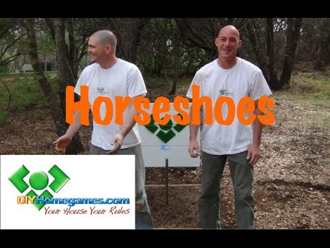 How to build Horseshoes - DIYHomegames