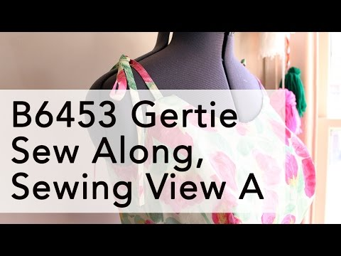 Gertie B6453 Sew Along, Sewing View A   Vintage on Tap