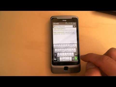 HTC Desire Z: Internet browser