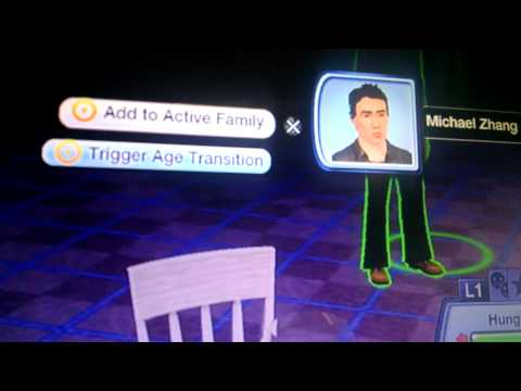 Sims 3 ps3 cheat how to add someone to active fami