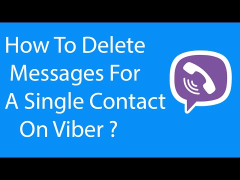 Android App: How To Delete Messages For a Single Contact on Viber ?
