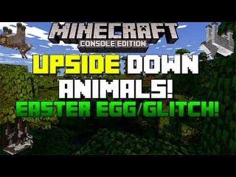 Minecraft - Minecraft Easter Egg Glitch - Upside Down Animals!