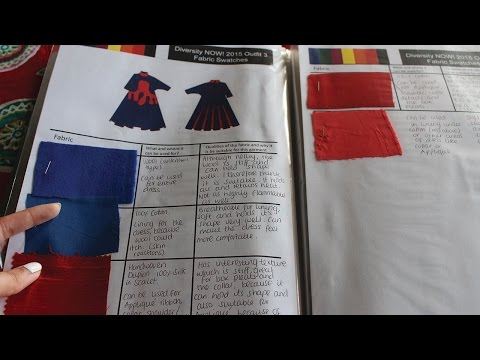 How to organise Fabric swatches | Fashion Design