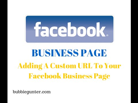 Creating A Facebook Page : Adding A Custom URL To Your Facebook Page