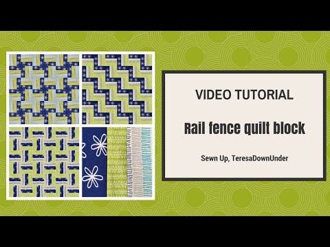 Quick and easy rail fence quilting block tutorial