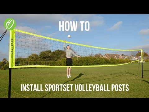 Sportset Beach/Grass Volleyball Posts Installation Guide