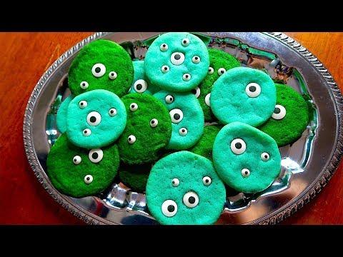 How To Make Eye Ball Cookies! Kids Bake!