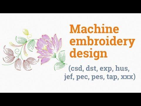 Blossoming rose. Machine embroidery design (emb, csd, dst, exp, hus, jef, pec, pes, tap, xxx)