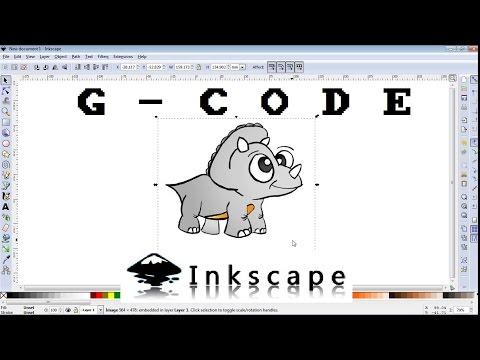 How to make G-CODE file of any image for CNC machine /INKSCAPE