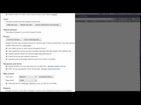 Chrome Settings - How to set up Chrome Settings On A Mac