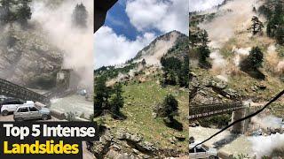 Top 5 Intense Landslides Caught On Camera