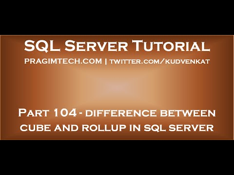 Difference between cube and rollup in SQL Server