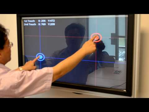 ET&T's Android demo with IR touch screen overlay