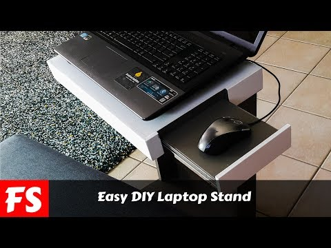 How To Make A Laptop Stand With Plywood And Pocket Hole Joinery (FS Woodworking)