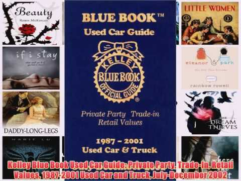 Read Kelley Blue Book Used Car Guide: Private Party Trade In Retail Values 1987 2001 Used