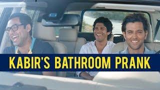 Kabir's bathroom prank   Zindagi Na Milegi Dobara   Abhay Deol   Hrithik Roshan   Farhan Akhtar
