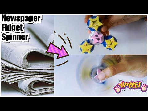 How to make Fidget Spinner with News Paper | DIY Fidget Spinner | Best Out Of Waste