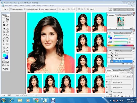 how to create Passport size Photo in adobe Photoshop