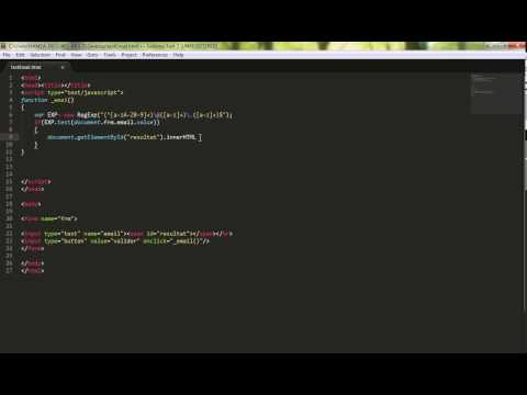 Validation Email Avec Javascript