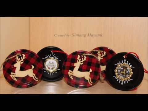 Mason Jar Lids Ornaments Or Tags #6