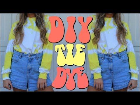DIY TIE DYE SHIRTS | THREE DIFFERENT WAYS! | SAMANTHA MARTIN