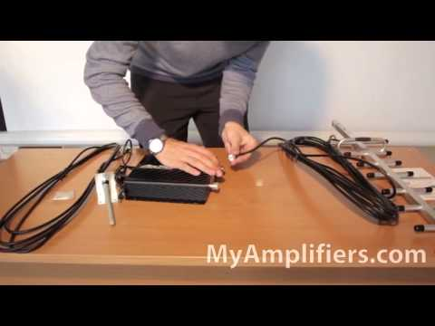 Mobile Phone Signal Booster AnyTone AT608 - GSM Repeater - Unpacking Video