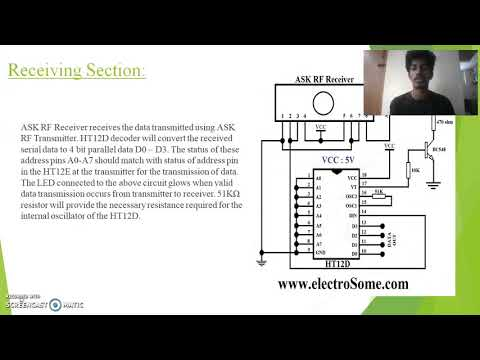 wireless speed and direction control of a dc motor using rf communication.