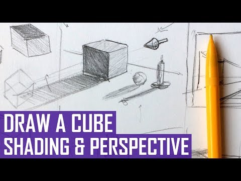 How to Draw 3D Shapes: Cube (With Shading and Perspective!)