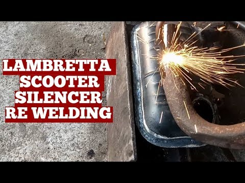 How To-Welding Old Lambretta Scooter Silencer-Gas Welding Lambretta Scooter Sound Silencer