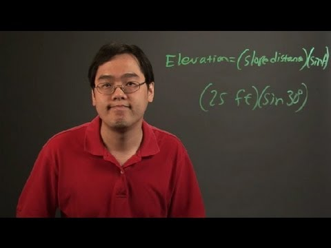 How to Determine Elevations From the Slope Distance & Vertical Angle : Angles & Other Math Tips