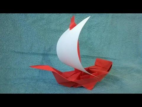 Como hacer un Barco Pirata de papel Origami - Origami Pirate Ship