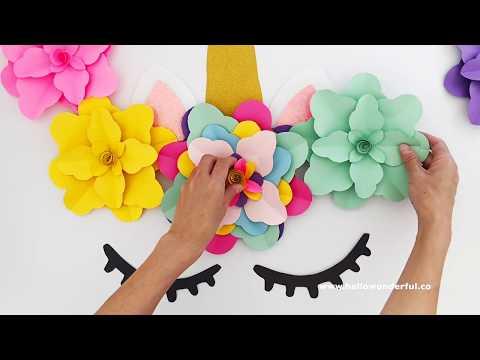 DIY UNICORN FLOWER BACKDROP