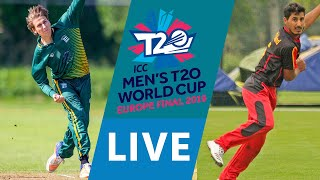LIVE CRICKET - ICC Men's T20 World Cup Europe Final 2019 - Guernsey vs Germany. Starts 15.45 BST