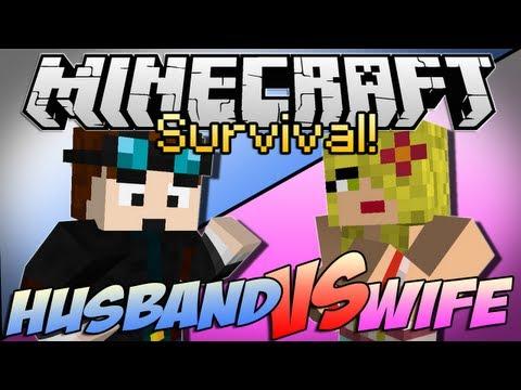 Minecraft | HUSBAND vs WIFE SURVIVAL! | Episode 1