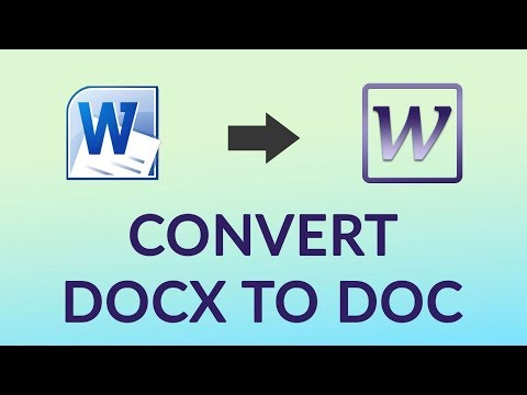 How to Convert DOCX to DOC in Word 2003 Format - Change File Extension from DOCX to DOC