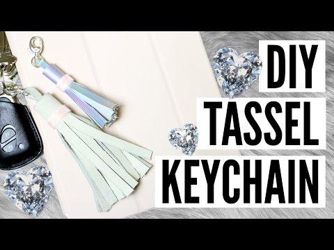 CHEAP & EASY DIY Tassel Keychain Tutorial | TutorialsByA