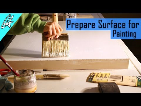How to Prepare canvas or wood for oil or acrylic painting