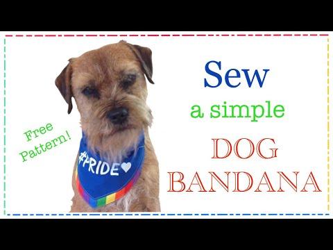 DIY dog bandana slip through collar design FREE PATTERN with Lisa Pay