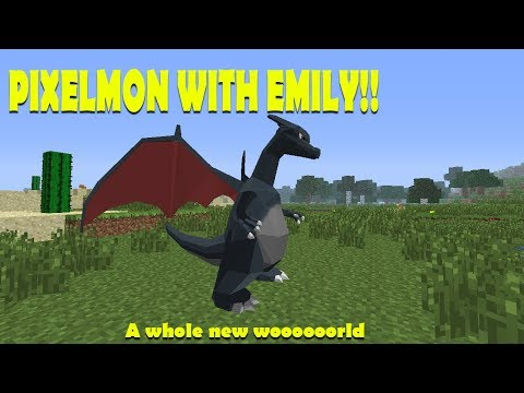 Building a base and leveling up! Minecraft Pixelmon!