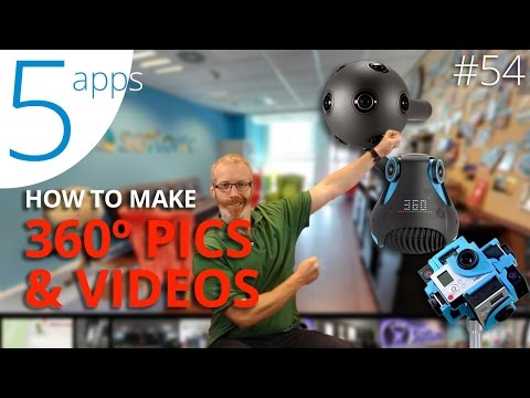 Create your own 360 VR videos and pictures