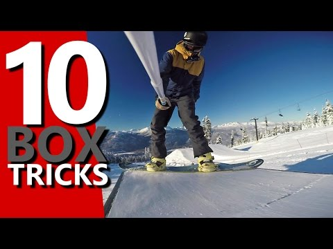 10 Snowboard Tricks to Learn on a Box