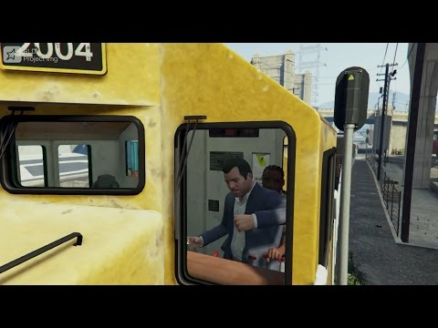 GTA V Hijack Train | GTA 5 Funny Moment