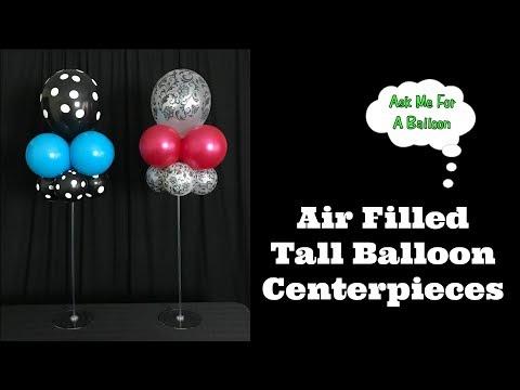 Air Filled Balloon Centerpieces