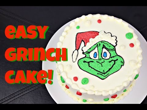 Easy Grinch Cake! 2 Recipes & No Special Tools! Gretchen's Bakery