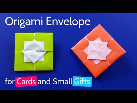 Origami Square Envelope for Greeting Card or Small Gift Wrapping